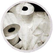 The Spare Rolls 2 - Toilet Paper - Bathroom Design - Restroom - Powder Room Round Beach Towel