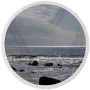 The Sparkling Sea Round Beach Towel