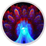 The Spectral Crown Round Beach Towel