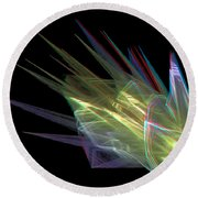 The Speed Of Light - Use Red/cyan Filtered 3d Glasses Round Beach Towel