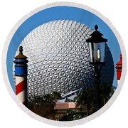 The Sphere Round Beach Towel
