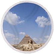 The Sphinx Egypt Round Beach Towel