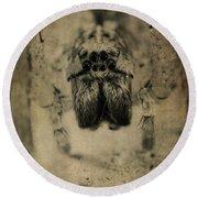 The Spider Series Xiii Round Beach Towel