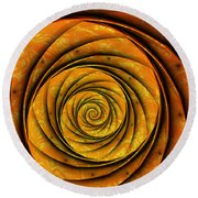 The Spiral Round Beach Towel