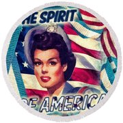 The Spirit Of America Round Beach Towel