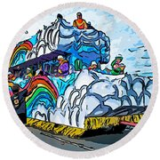 The Spirit Of Mardi Gras Round Beach Towel