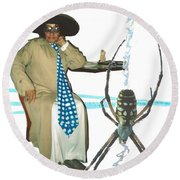 The Spotted Widow Round Beach Towel