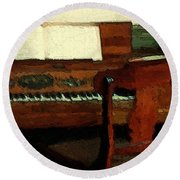 The Square Piano Round Beach Towel