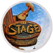 The Stage On Broadway Round Beach Towel