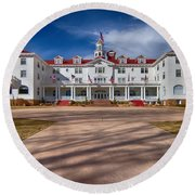 The Stanley Hotel Round Beach Towel