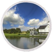 The Star Barn After The Storm Round Beach Towel