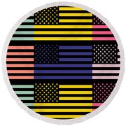 The Star Flag Round Beach Towel by Tommytechno Sweden