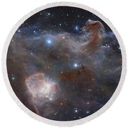 The Star-forming Region Ngc 2024 Round Beach Towel