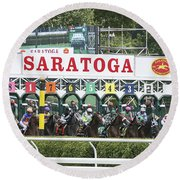 The Start At Saratoga Round Beach Towel
