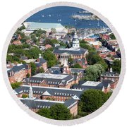 The State House Round Beach Towel