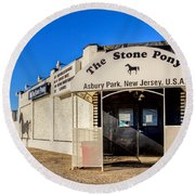 The Stone Pony Asbury Park New Jersey Round Beach Towel