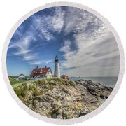The Storm Approaches Round Beach Towel