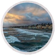 The Storm Clouds Roll In Round Beach Towel