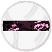 The Storm You Left Behind My Eyes 2  Round Beach Towel