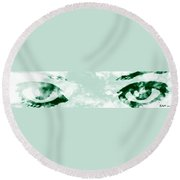 The Storm You Left Behind My Eyes 3 Round Beach Towel