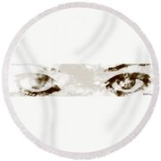 The Storm You Left Behind My Eyes 4 Round Beach Towel