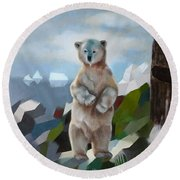 The Story Of The White Bear Round Beach Towel