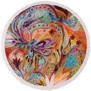 The Stream Of Life Part II Round Beach Towel