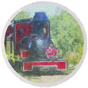 The Sugar Train Round Beach Towel