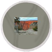 The Sun Shines On The Canyon Round Beach Towel