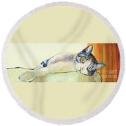 The Sunbather Round Beach Towel