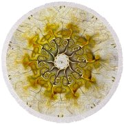 The Sundial Round Beach Towel
