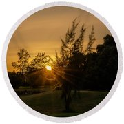 The Sunset In The Mountain IIi Round Beach Towel