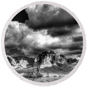The Supes In Black And White  Round Beach Towel