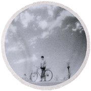 A Surreal Day Round Beach Towel
