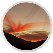 The Surreal Landscape Of Bolivia S Round Beach Towel