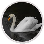 The Swan Round Beach Towel