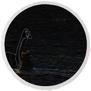 The Swan Of Tuonela Round Beach Towel