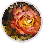 The Sweetest Rose 1 Round Beach Towel