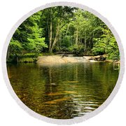 The Swimming Hole Round Beach Towel