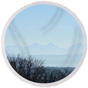 The Swiss Alps Panorama  2 Round Beach Towel