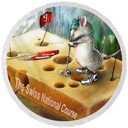 The Swiss National Course Round Beach Towel