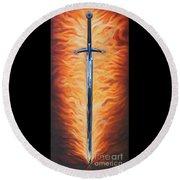 The Sword Of The Spirit Round Beach Towel