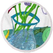 The Table Setting Round Beach Towel