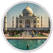 The Taj Maha Round Beach Towel