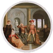 The Taming Of The Shrew Round Beach Towel