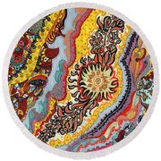 The Tattoo Round Beach Towel