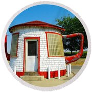 The Teapot Dome  Round Beach Towel by Jeff Swan