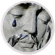 The Tear Of Jesus Round Beach Towel