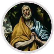 The Tears Of St Peter Round Beach Towel