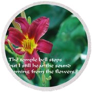 The Temple Bell Round Beach Towel